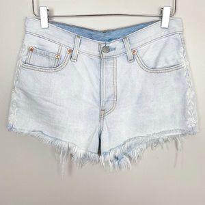 LEVI'S 501 Denim Shorts Flower Fresh 28 Cut Offs